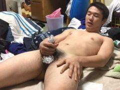 【無修正】ラグビー部員のイキまくり全裸オナニー!