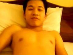 ウリ専若者全裸オナニー
