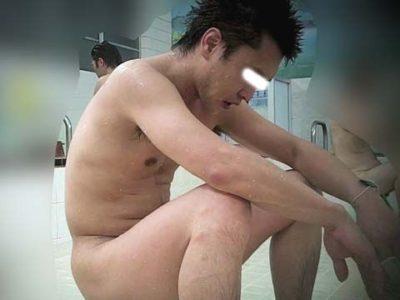 銭湯で眉毛の凛々しい犬顔ノンケ男子を盗撮!