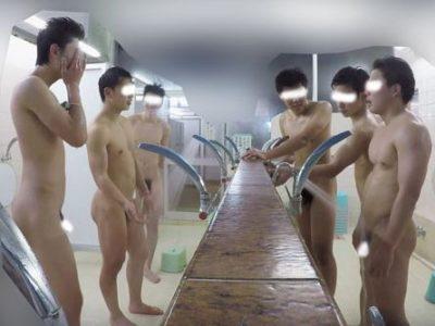 6人の運動部員たちがはしゃいで入浴!仲間同士のリアルな姿!