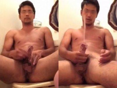 メチャクチャ男前のノンケ男子の丸見え全裸オナニー!
