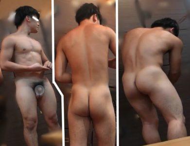 HD男風呂-10 オス臭いガチムチ体育会系の風呂場での姿を盗撮!
