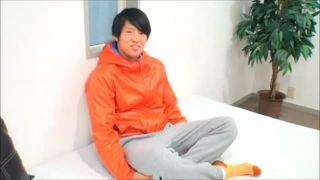 【ノンケ動画】イケメン男子学生のオナニー!濃厚な雄汁を発射!