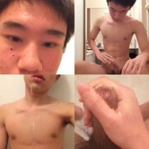 ノンケ包茎大学生のネカマオナニー流出!